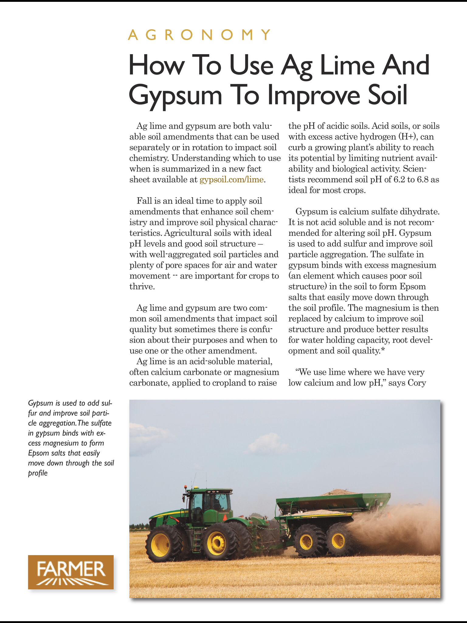 Ag lime article in Farmer magazine